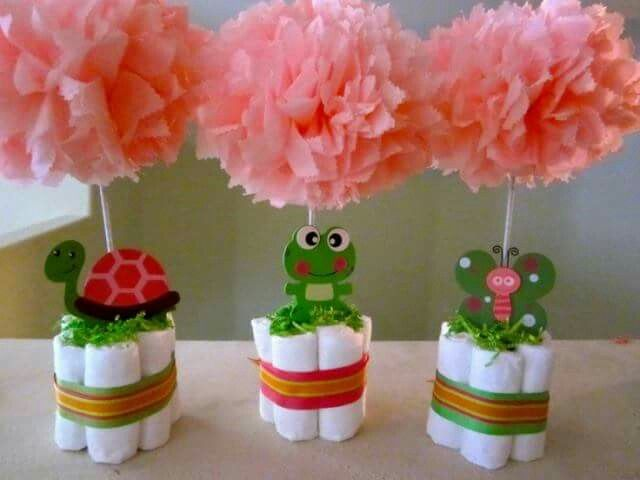 Small diaper baby shower centerpieces ideas