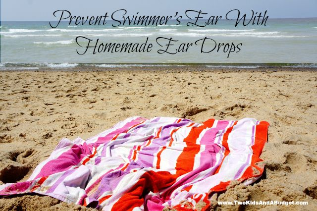 Homemade Swimmers Ear Drops can easily prevent painful outer ear infections. Learn how to make your own Swimmers Ear Drops using just two ingredients. www.TwoKidsAndABudget.com