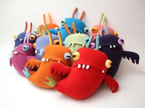 Cotton Monster, originales muñecos y monstruos con tejidos reciclados