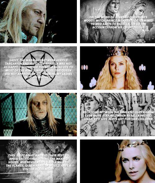 the world of ice and fire + king aerys ii targaryen and queen rhaella targaryen  #asoiaf