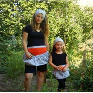 Anne Kız Kombin- Sebze meyve toplama Peşkiri-Çocuk