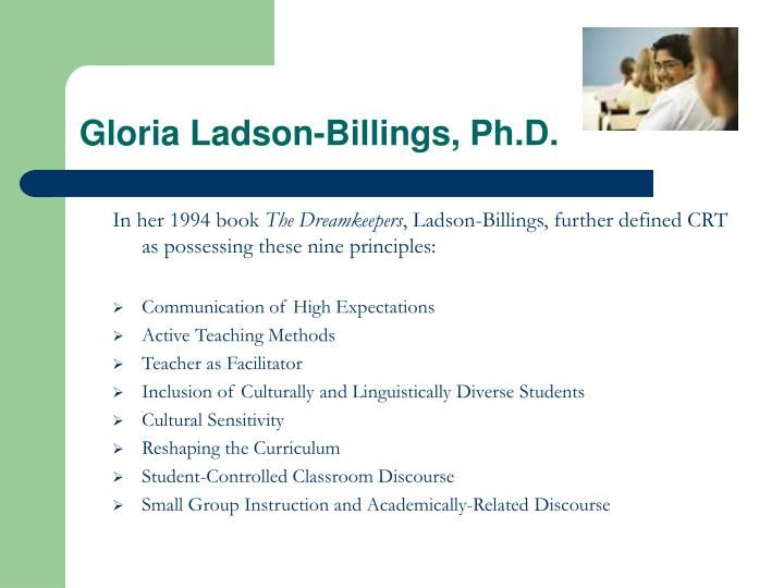 Gloria ladson billings ph d