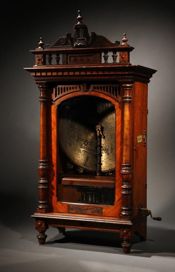 Love this. Victorian Symphonion upright disk music box