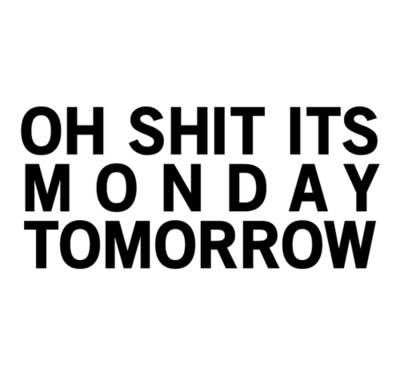 Sunday don´t be so fast