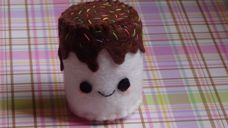 Cute Marshmallow Dipped in Chocolate Plushie Tutorial