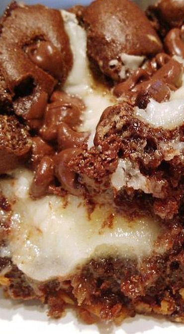 Earthquake Cake (pecans, flaked coconut, cream cheese) - Southern recipes