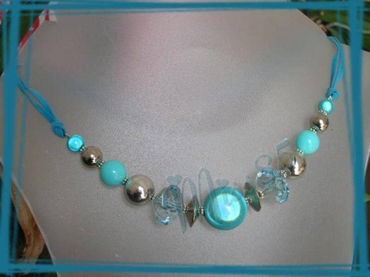collier turquoise collier ras du cou le carrousel bijoux fait maison collier pandora. Black Bedroom Furniture Sets. Home Design Ideas