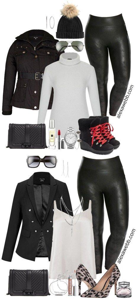 Plus Size Faux Leather Leggings Outfit Ideas – Part 1