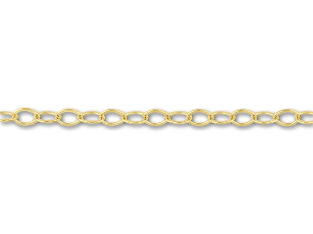 1812 Gold-Filled Flat Cable Chain