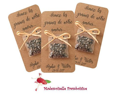 """Map bag of seeds, nature wedding ceremony, raffia, nation reward visitors, customizable """"sow the seeds of affection"""""""