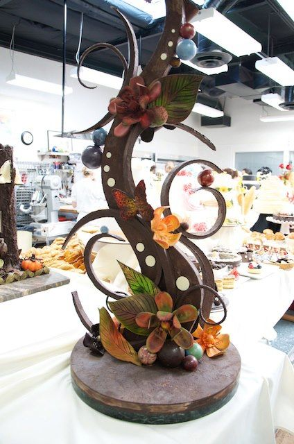 #Chocolate sculpture from the Baking & Pastry program