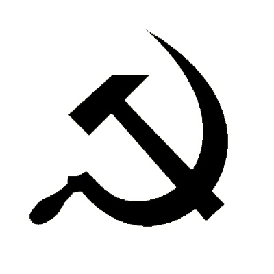 Hammer and sickle stencil template