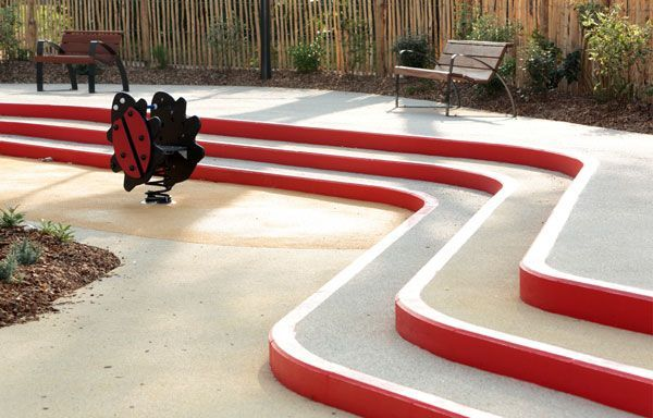 A Toddlers Playground, by Espace Libre, in Alfortville, France.