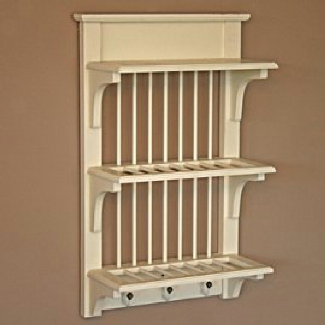 how to build a plate rack shelf