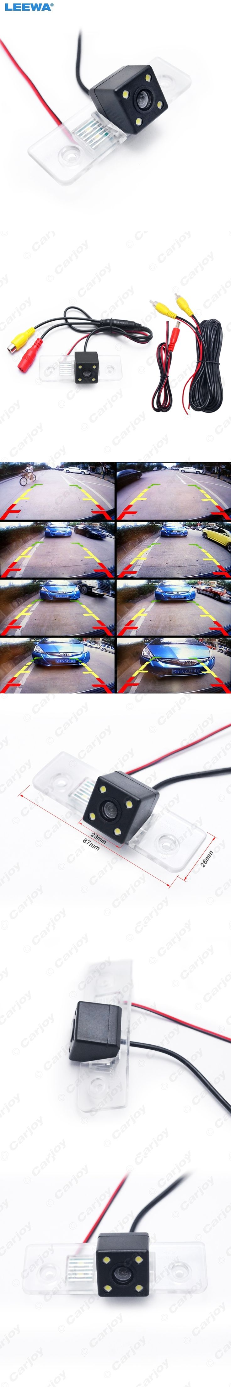 CCD Rear View Car Reverse Backup Camera With LED light For Skoda Octavia Mk2(1Z)(2004-2012) #CA4061