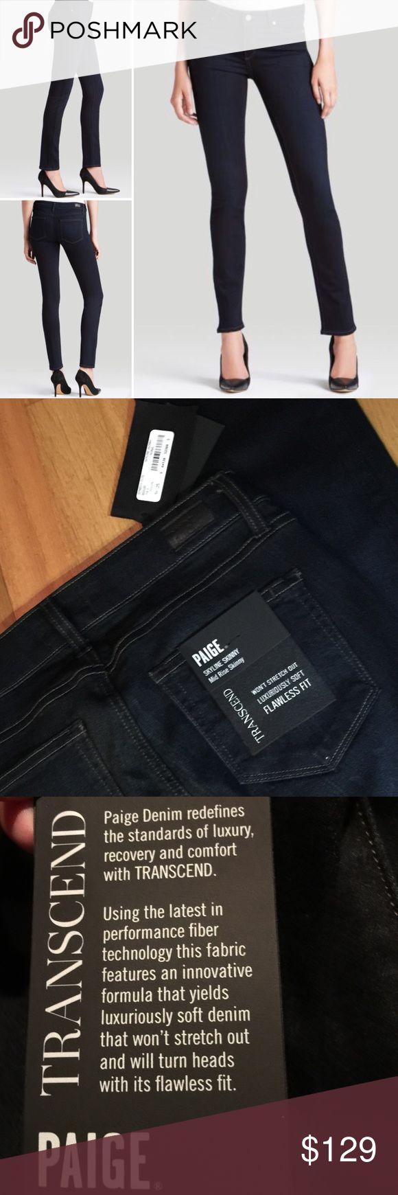 NWT Paige Skyline Skinny Denim Brand new with tags  These are so soft! If only they were my size! ❤️❤️ Being sold online right now at Nordstrom for $179. Paige Jeans Pants Skinny