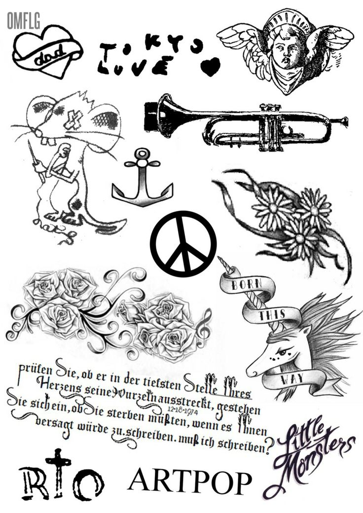 gagasgallery Gaga's tattoos