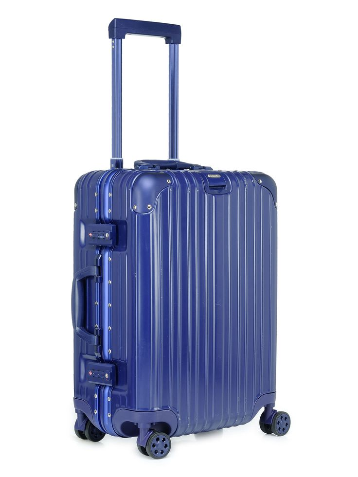 California Love Cobalt Blue Cabin Luggage 20 INCH - Tamo Luggage  Description:  Interior zipped pockets, Smart sleeve organizer inside, Handle lock on the top allowing you to carry your handbag easily