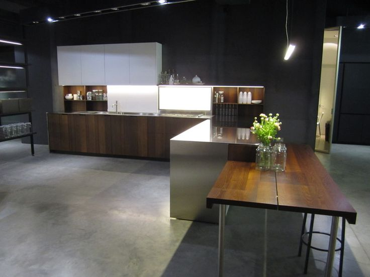 "17 best ex display boffi ""aprile"" kitchen with acacia wood finish"