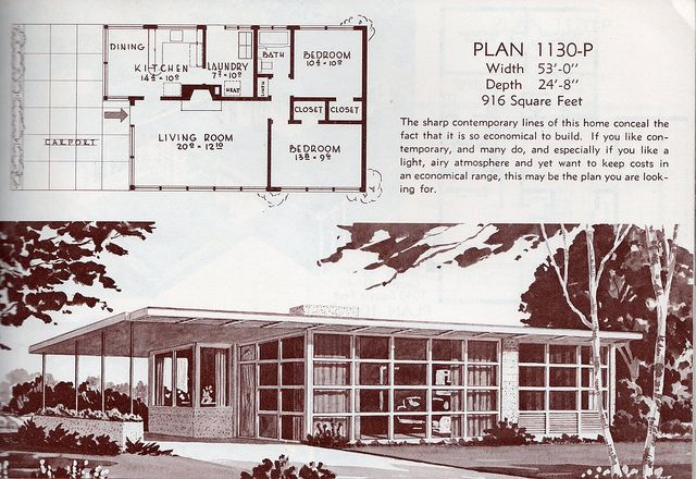99 Best Images About Mid Century Modern House Plans On