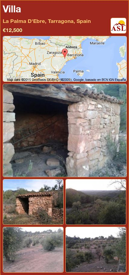 Villa in La Palma D'Ebre, Tarragona, Spain ►€12,500 #PropertyForSaleInSpain