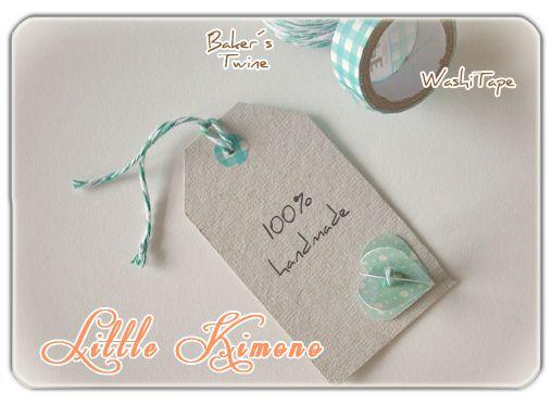 ❣ Little Kimono Handmade ❣ : Tarjetas / Etiquetas para productos 100% Handmade / Labels