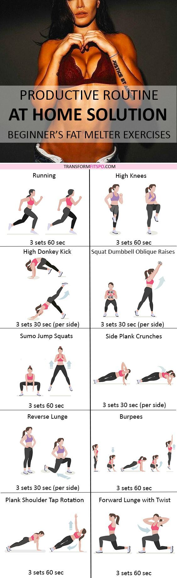 Repin and share if you got big results from the comfort of your home with this workout! Read the post for all the workout descriptions!