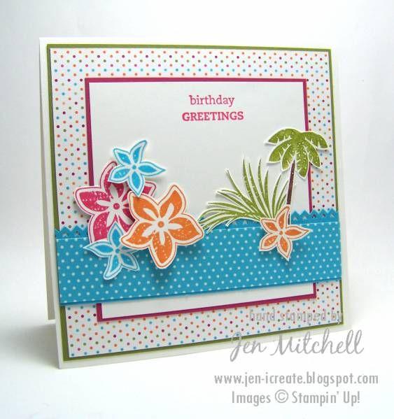 Тропические открытки на день рождения своими руками