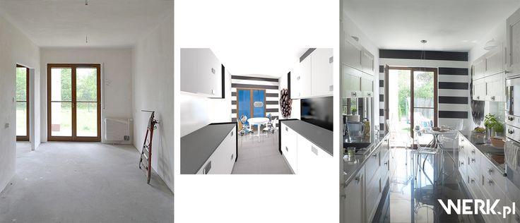 WERK architekci Warszawa Transformacja wnętrza kuchni przed i po