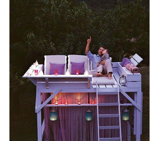 backyard observation deck: Stars Gazing, Ideas, Star Gazing, Decks, Trees Houses, Bunk Beds, Treehouse, Backyard, Bunkbeds