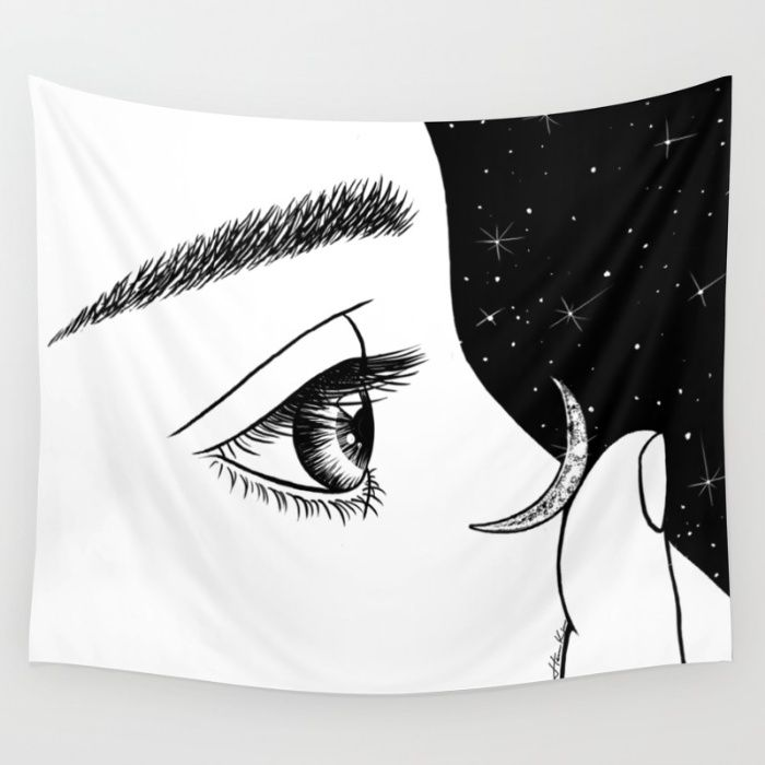 """""""Contact"""" Wall Tapestry by Henn Kim on Society6."""