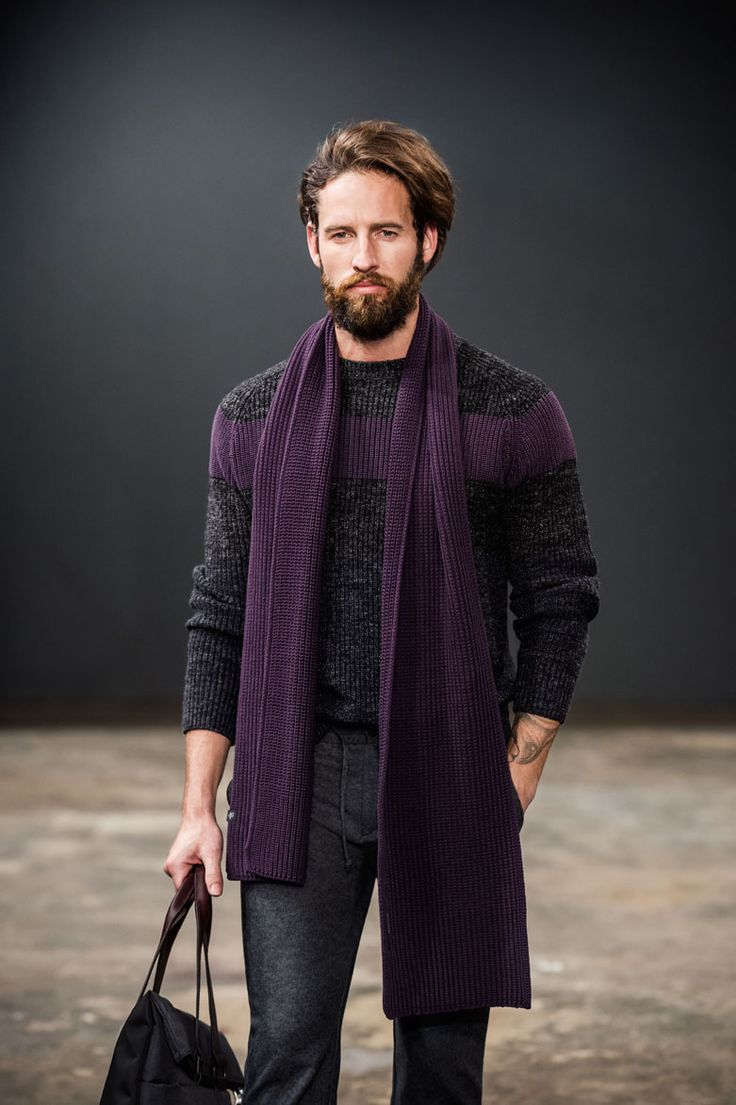 Marc O'Polo Fall / Winter 2015 Collection Preview Don't underestimate a purple scarf