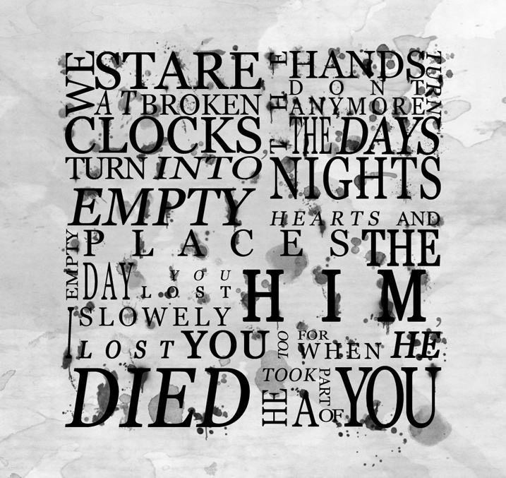 Bring Me The Horizon - Suicide Season.   This is not the end.   I love this song.
