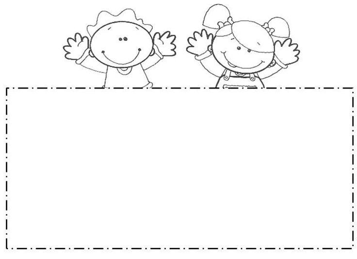 Bordes escolares para colorear - Imagui