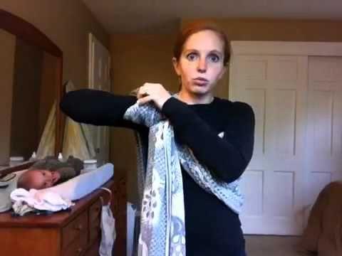 Robins Hip Carry in a woven wrap from Babyweaing Faith. She has wonderful tutorial videos!