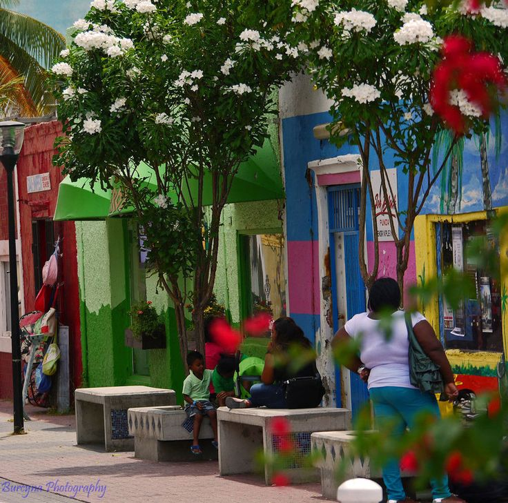 colorful street, Curacao