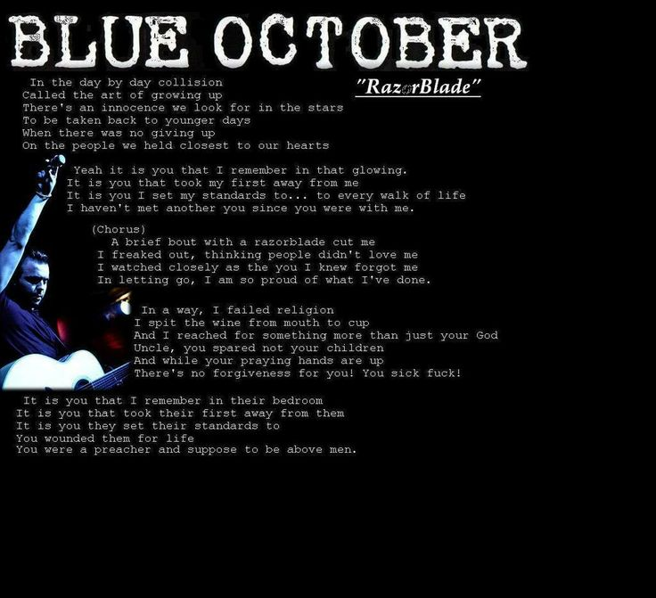 Lyric cleveland show lyrics : 100 best Blue October Pictures images on Pinterest | October ...