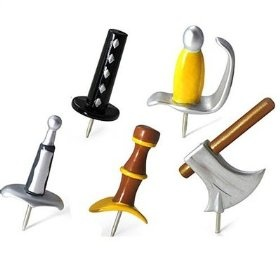 sweet medieval weapon push pins!Ideas, Gift, Stuff, Offices, Push Pin, Things, Medieval Weapons, Products, Weapons Pushpin
