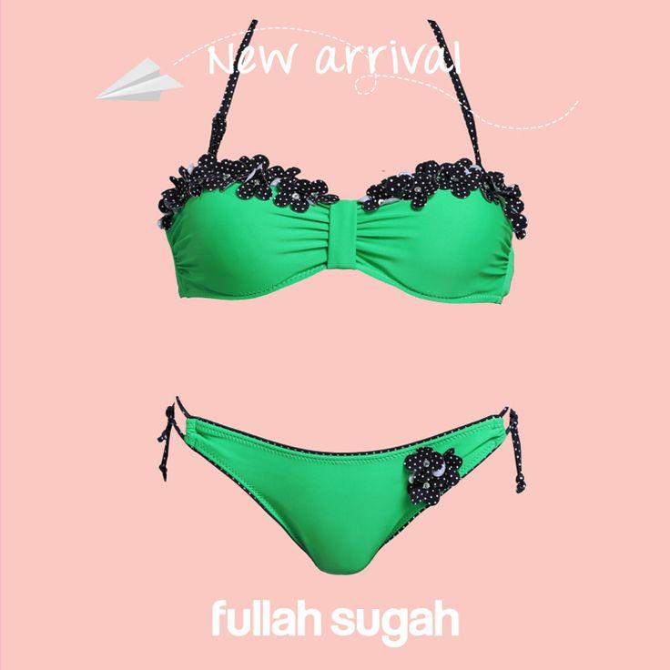 Bikini με πουά λουλούδια | 24281039 #fullahsugah #fullah_sugah #fashion #shopping #swimwear #bikini #summer_trends