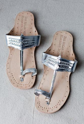 Kolapuri leather sandals.