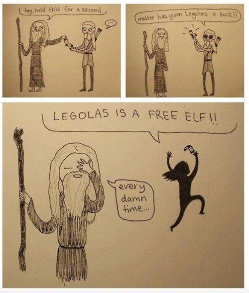 You're Not That Kind of Elf, Legolas.