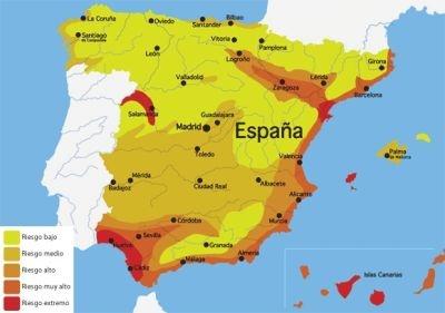 """Y aquí tenéis el mapa de prevalencia de la enfermedad (""""Gusano del corazón"""") en España. Fijaos como aquí en Sevilla la prevalencia  es muy alta, y en las costas más cercanas la prevalecia ees extremadamente alta. No lo dudes la prevención es la mejor medicina."""