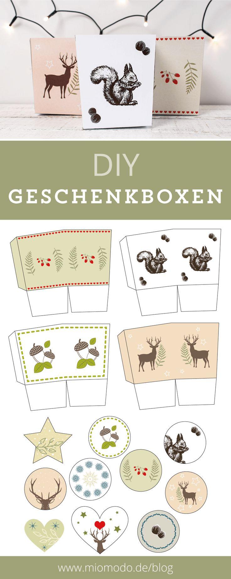 DIY Geschenkboxen für Weihnachten   Weihnachten DIY, weihnachten basteln, geschenkboxen weihnachten basteln, geschenkverpackungen diy weihnachten
