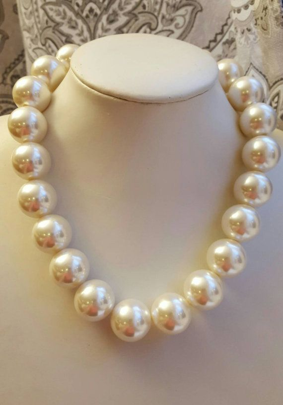 Check out this item in my Etsy shop https://www.etsy.com/ca/listing/489118743/extra-large-ivory-pearl-necklacepearl