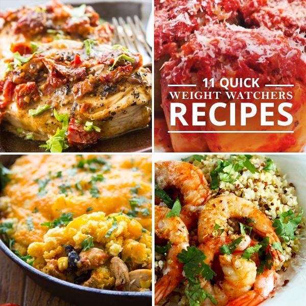 11 Quick Weight Watchers Recipes - make dinner quick AND healthy!  #weightwatchers #healthyrecipe