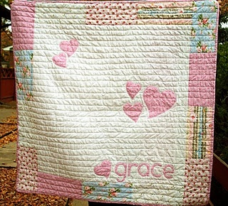 Simple baby quilt. Someone make this for my new baby please!