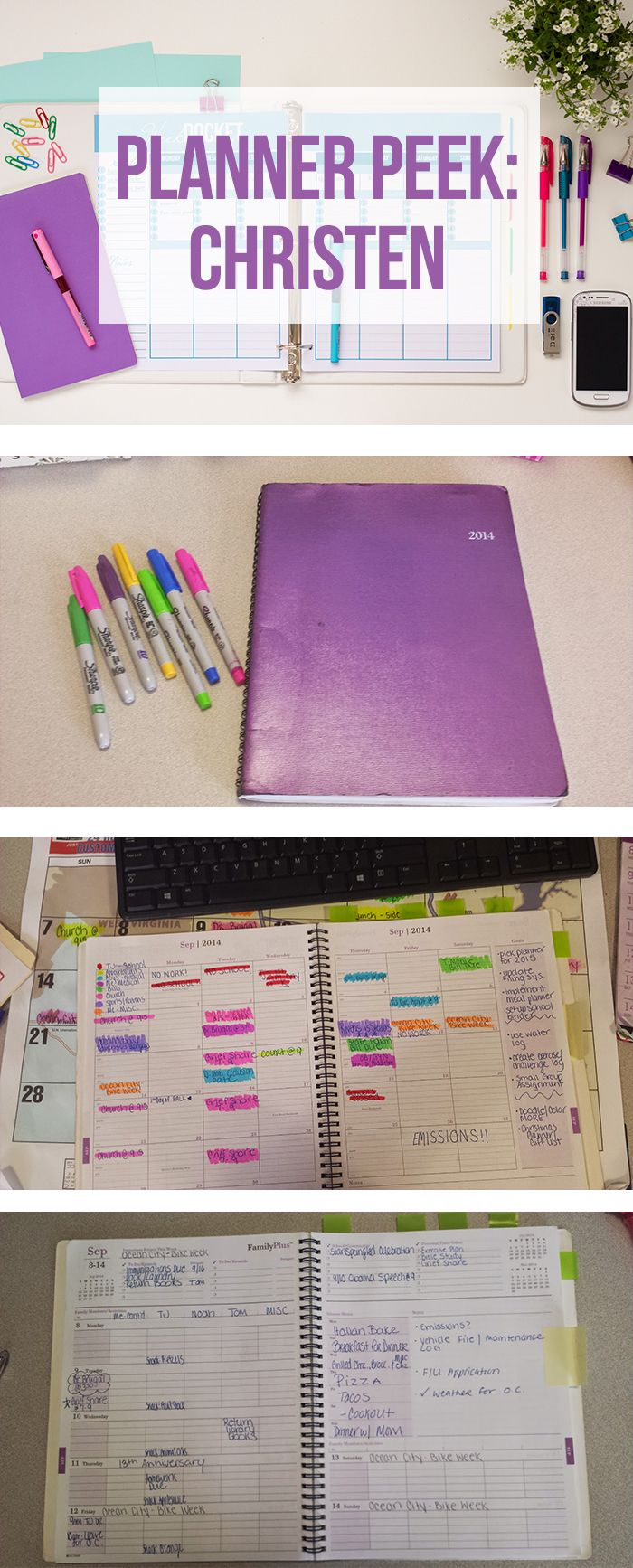 A Tour of Christen's Daytimer Family Plus Weekly Monthly Planner