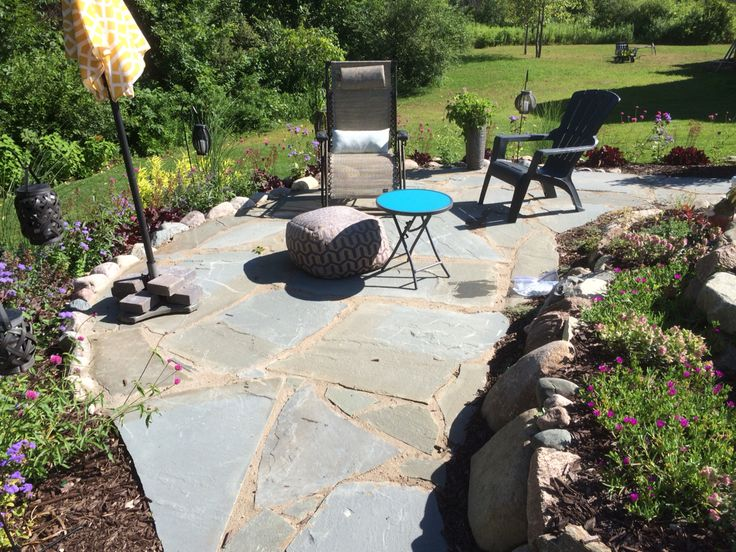 best 39 flagstone patios images on pinterest