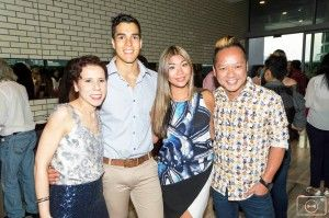 Lucy Laurita from Leiela, Chris Nayna, Lee Chan from MKR and Gary Lee at Envoy London's end of year celebration – Events by ART du JOUR by Leiela
