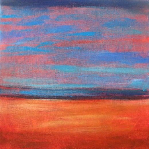 Easy Acrylic Painting Ideas: Abstract Landscape | Abstract ...